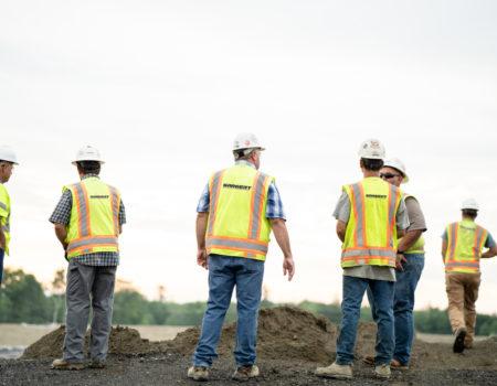 Sargent's Crew Wearing Construction Safety Uniform