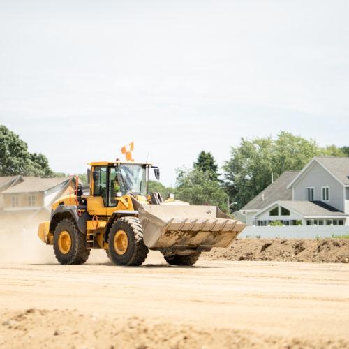 Medium Size Crawler Loader Transporting Soil
