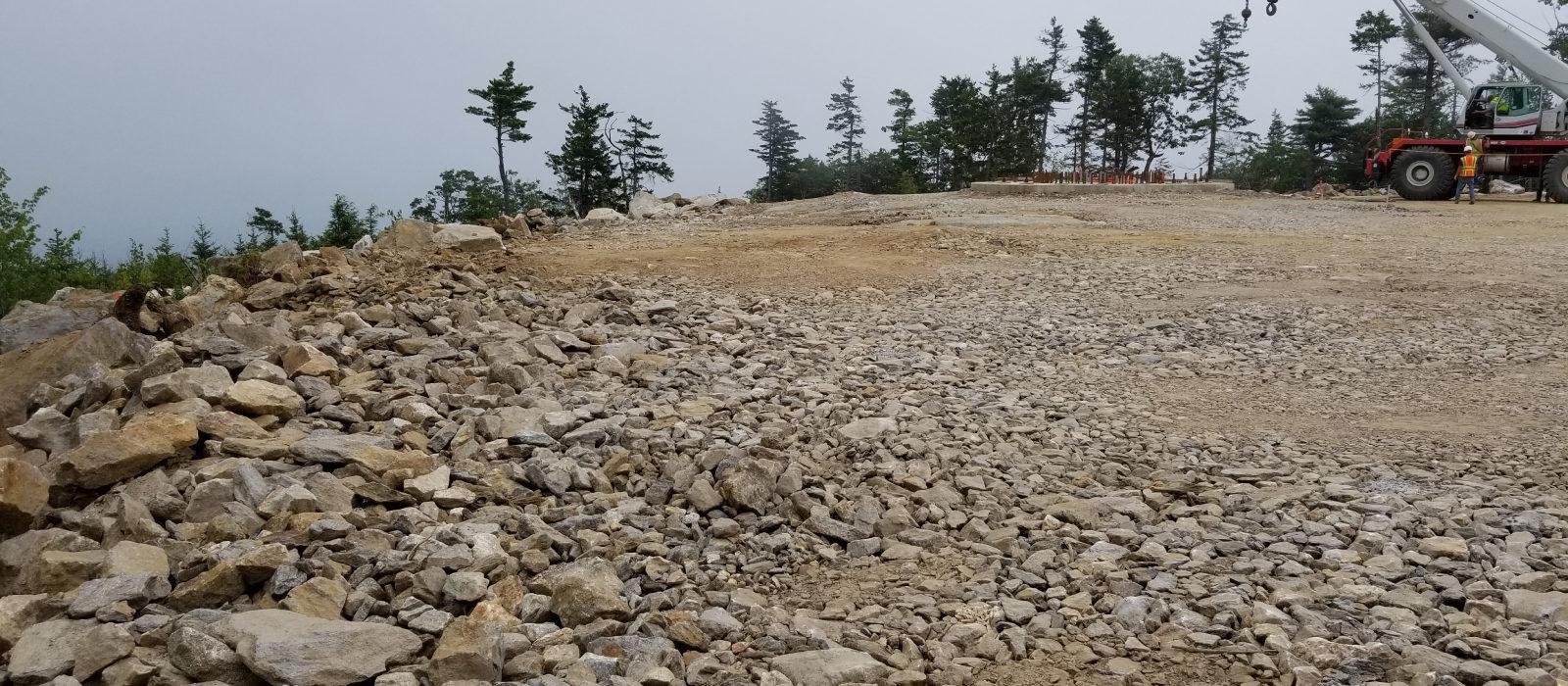 Rock Cliff At Wind Farm Sitework