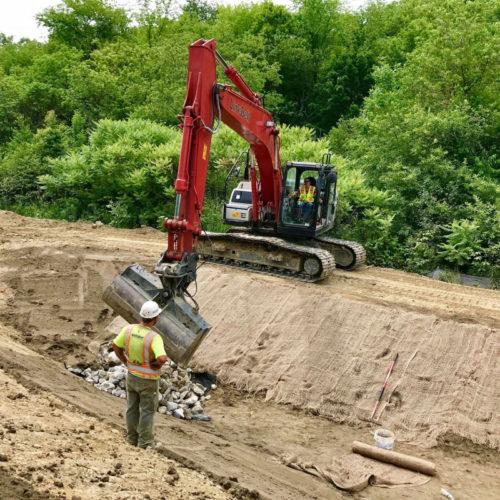 Medium Size Of Excavator Dropping Rocks At Lewiston Public Schools