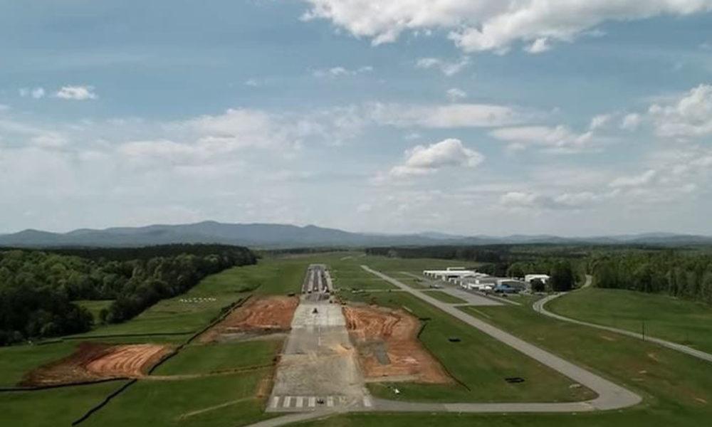 Wide View Of Blue Ridge Regional Airport Runaway