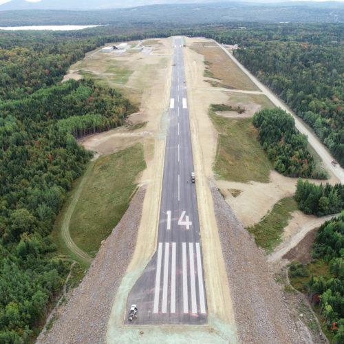 Aerial Wide View Of Rangeley Airport Runway 14