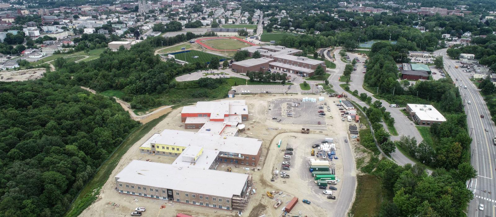 Lewiston Public School Aerial View
