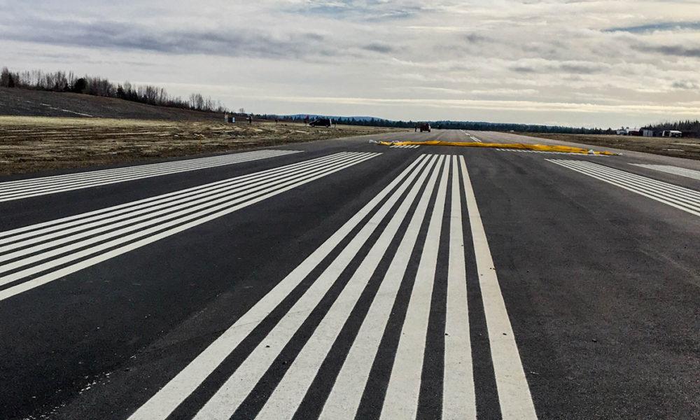 Princeton Airport Runway Close-up Shot