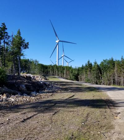Saddleback Wind Farm Site With Windmill