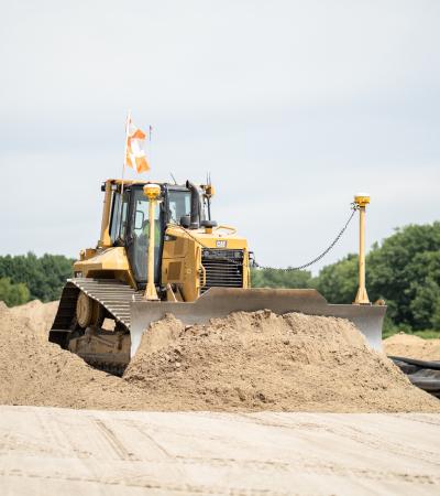 Sargent's Medium Size Bulldozer Moving Soil