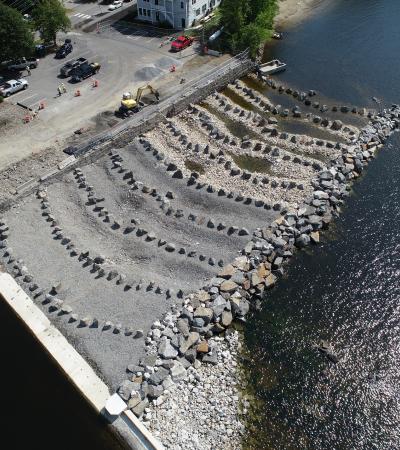 Shore aerial view